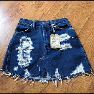 New with tags. Furst of A Kind Vintage Denim Skirt